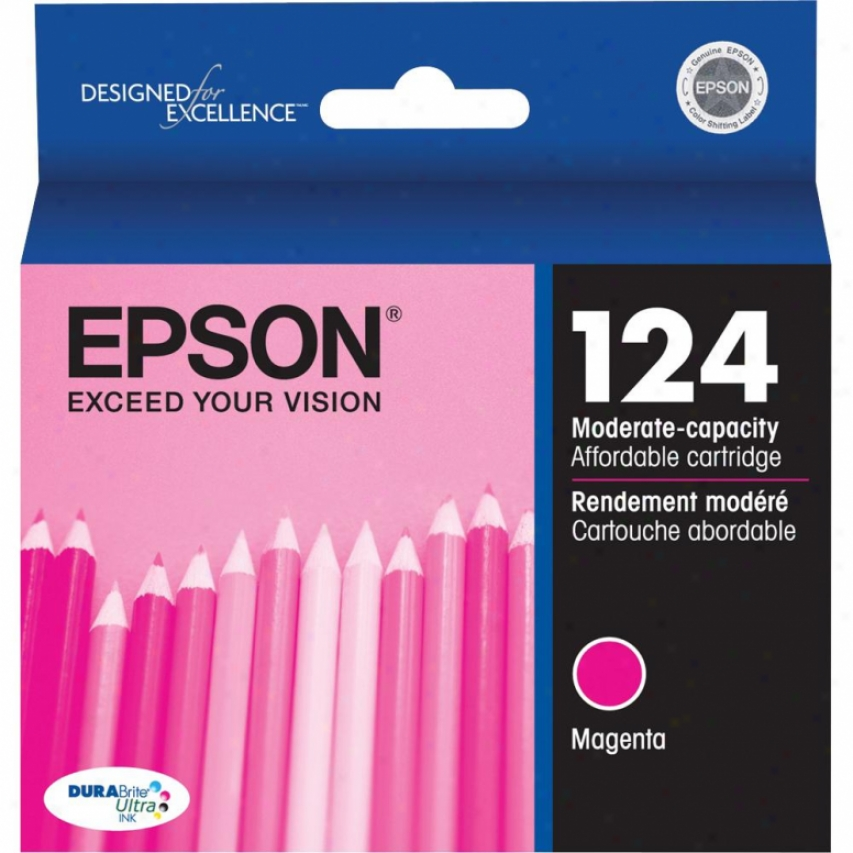Epson 124 Moderate-capacity Magenta Ink Cartridge - T124320