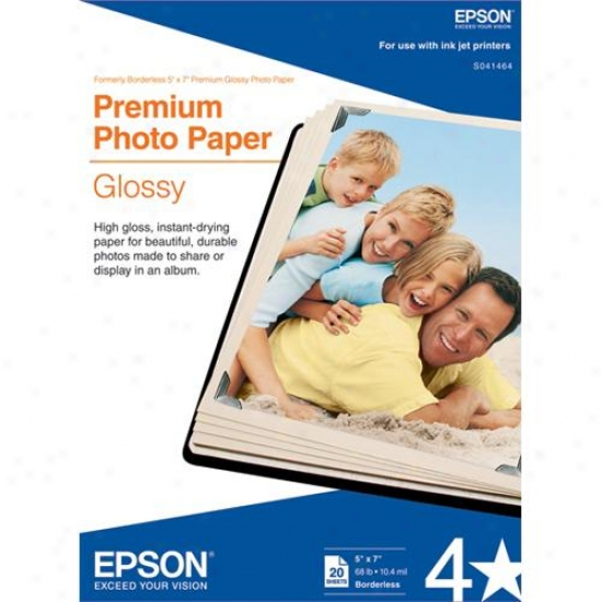"Epson 5"" X 7"" Premium Glossy Photo Paper (20-pack)"