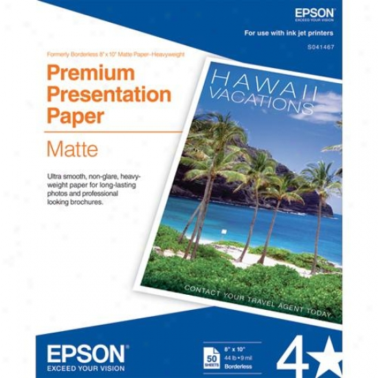 "Epson 8"" X 10"" Heavyweight Paper (50-pack)"