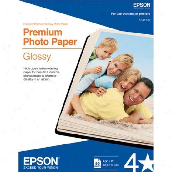 Epsoj Letter Size Premium Glossy Photo Paper (50-pack)