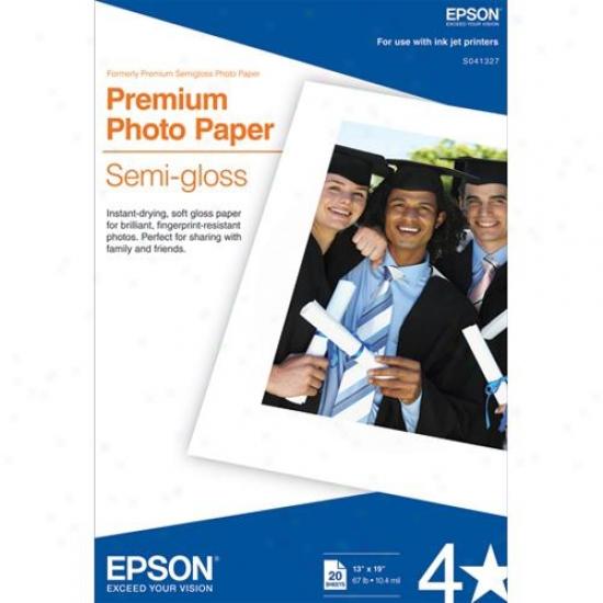 "Epson Premium Semigloss Photo Document (13""x19"")"