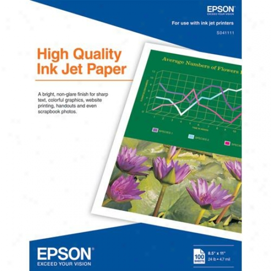 Epson S041111 - 100-pack Of High-performance Inkjet Printing Paper