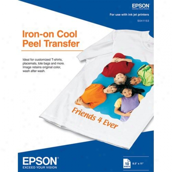 Epson S041153 - 10-pack Of T-shirt Transfer Paper