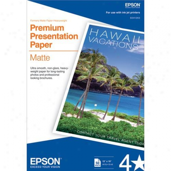 "Epson S041263 13""x19"" Heavyweight Matte Paper (50 Sheets)"