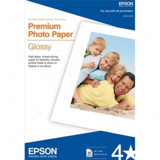 "Epson S041289 13""x19"" Premium Glossy Photo Paper (20 Sheets)"