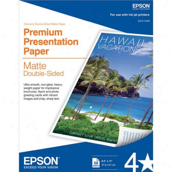 Epson S041568 50 Sheets Of Double-qided Matte Paper