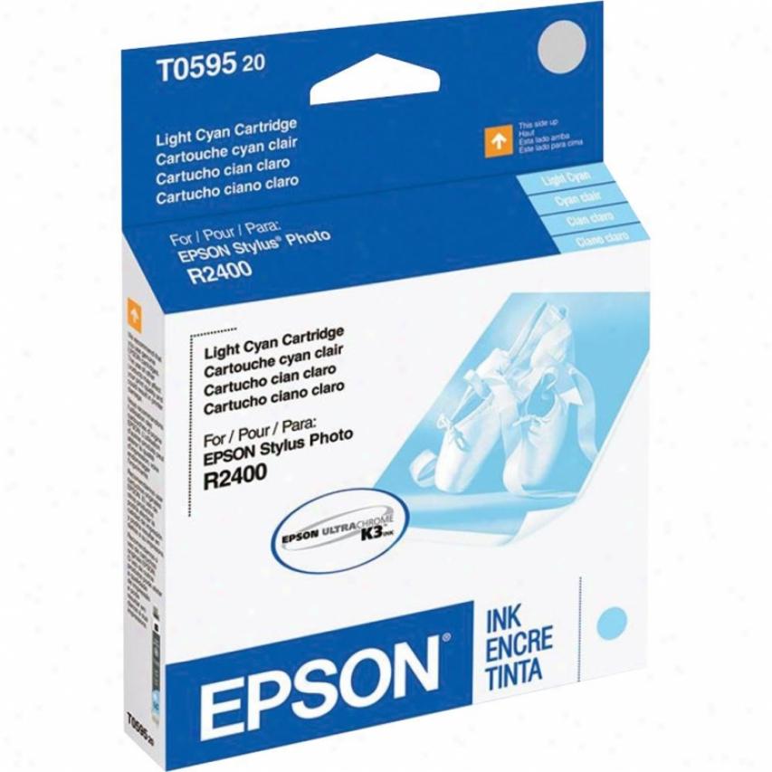 Epson T059520 Light Cyan Ink Cartridge - Stylus Photo R2400