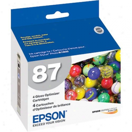 Epson T087020 Gloss Optimizer Ink Cartridge For Epson R1900
