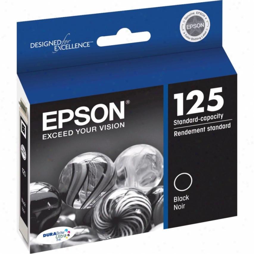 Epson T125120 125 Standard-capacity Ink Cartridge - Black