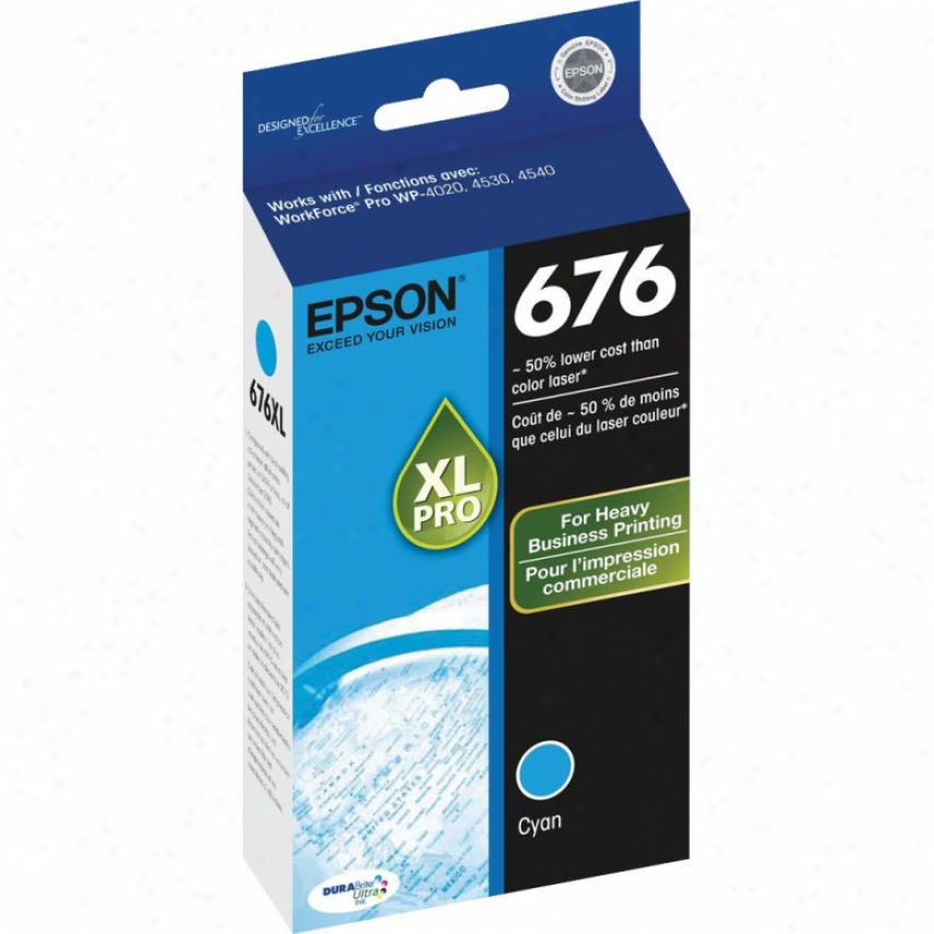 Epson Xl Cyan Ink Cartridge - T676xl220