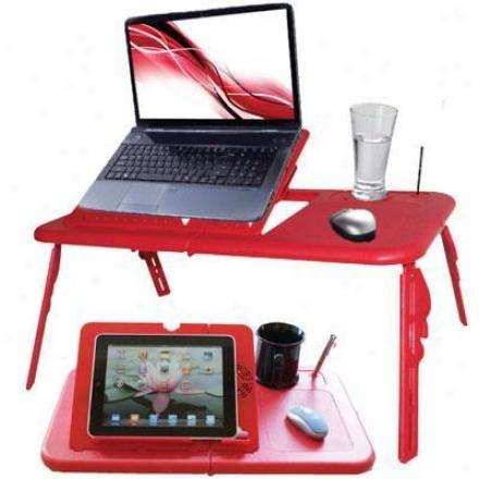 Estand Laptop Table W/fan Red