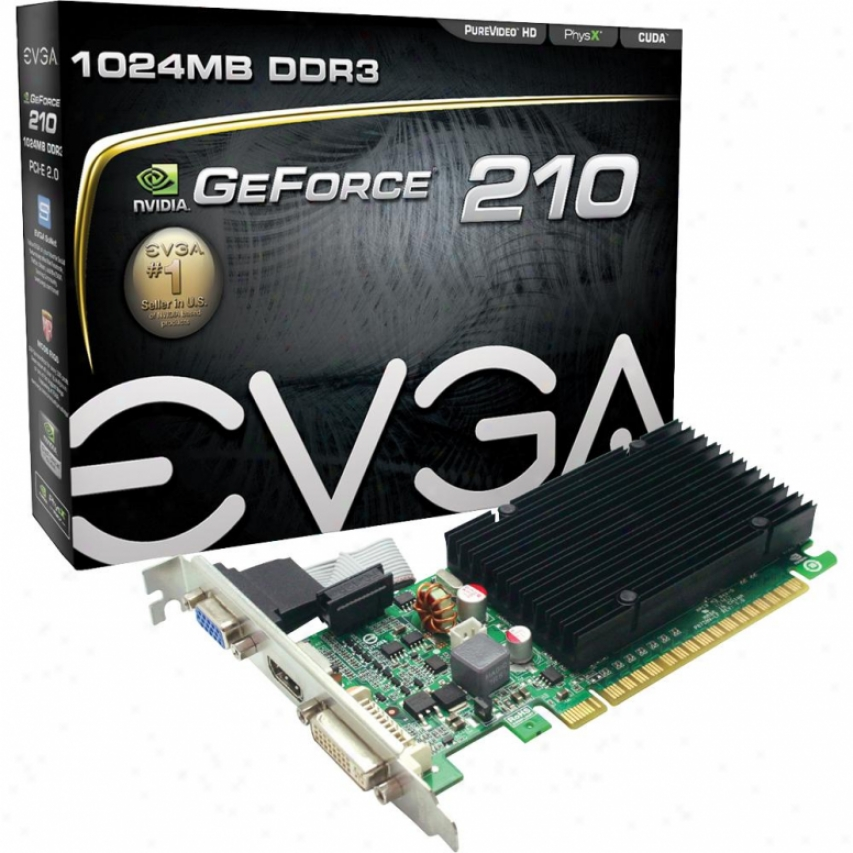 Evga Geforce 210 1024mb Ddr3 Pci Express 2.0 X16 Video Card - 01g-p3-1313-kr