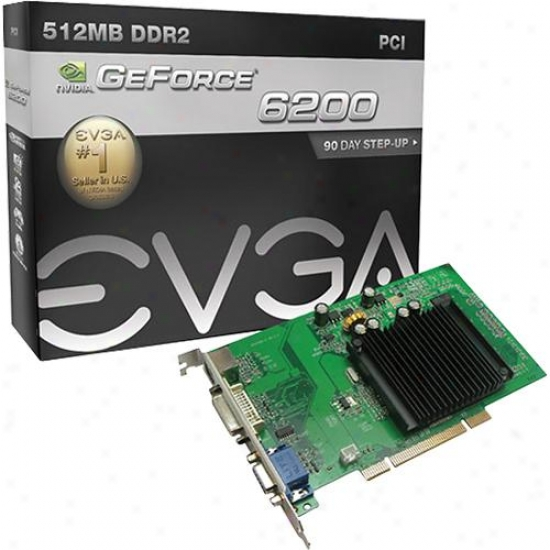 Evga Geforce 6200 512mb Ddr2 Pci Video Card - 512-p1-n402-lr