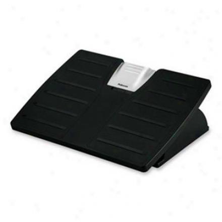 Fellowes Adjustable Footrest Black/silv