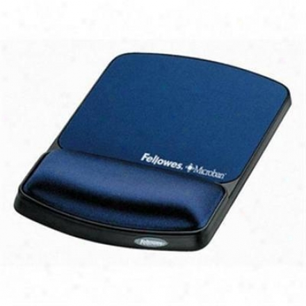 Fellowes Gel Wristrest/mousepad Sapphir