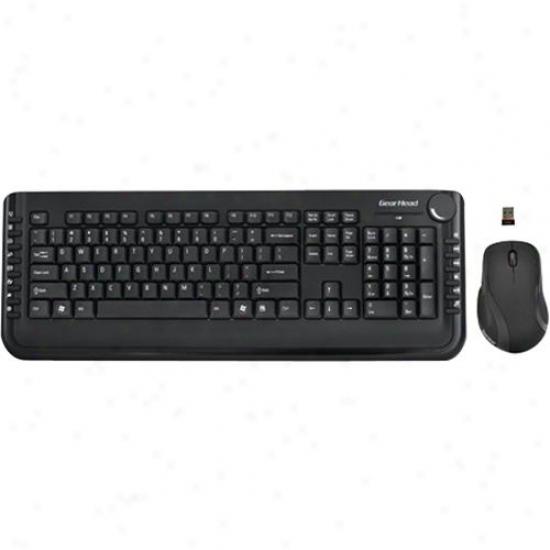 Gear Head Wireless Desktop/5 Button Mous