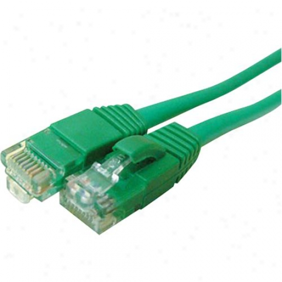 Goldx 50' Cat6 Booted Patch Green