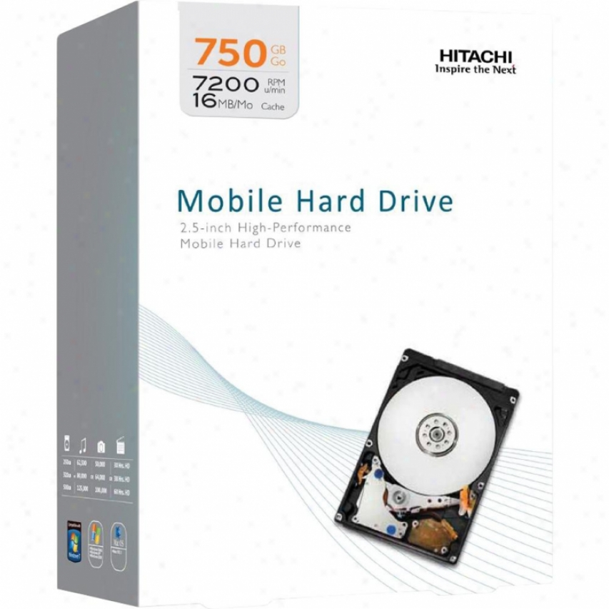 "Hitachi 750gb 2.5"" Travelstar Internal Hard Drive"