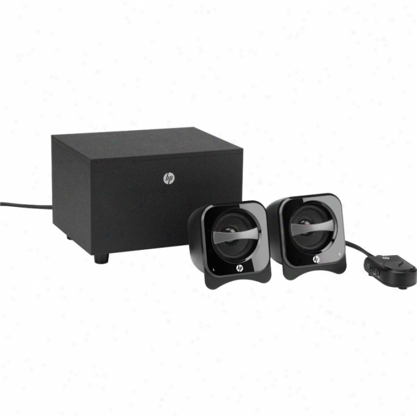Hp 2.1 Compact Speaker System W/ Subwoofer - Br386aa#abl