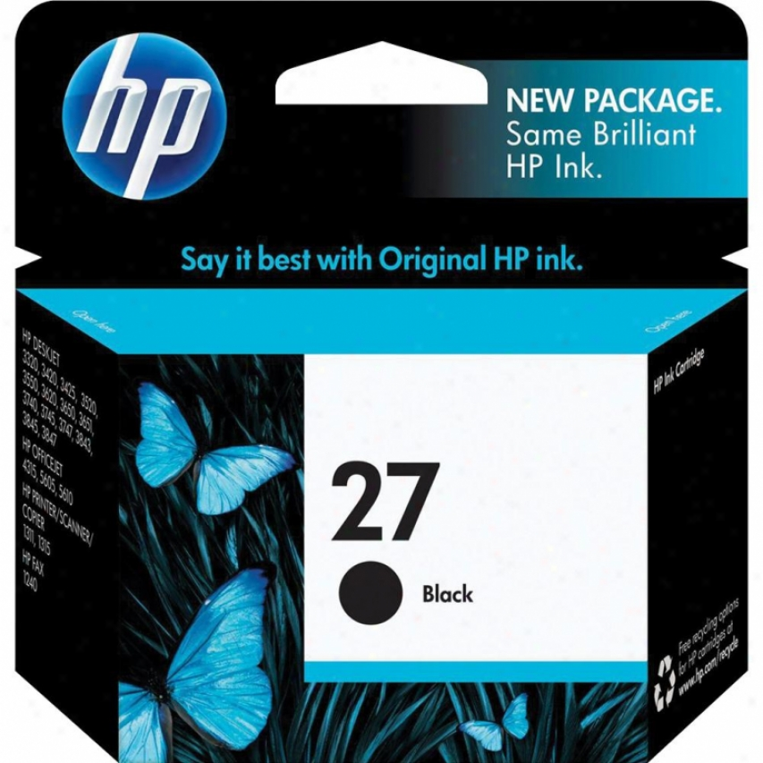 Hp 27 Black Inkjet Cartridge