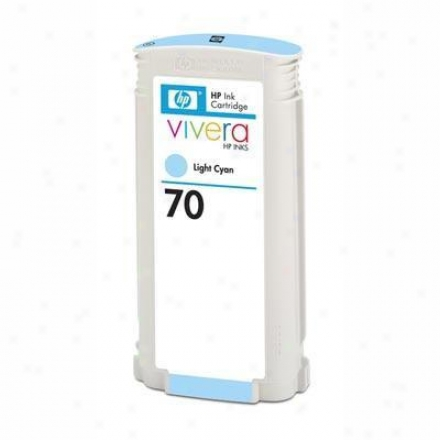 Hp 70 Light Cyan 130 Ml Ink Cart