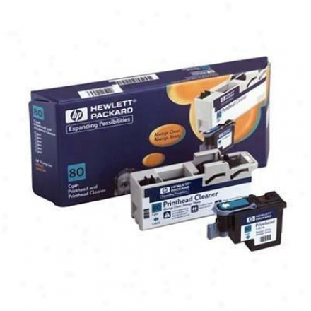 Hp 80 Cyan Printhead An dPrinthead Cleaner