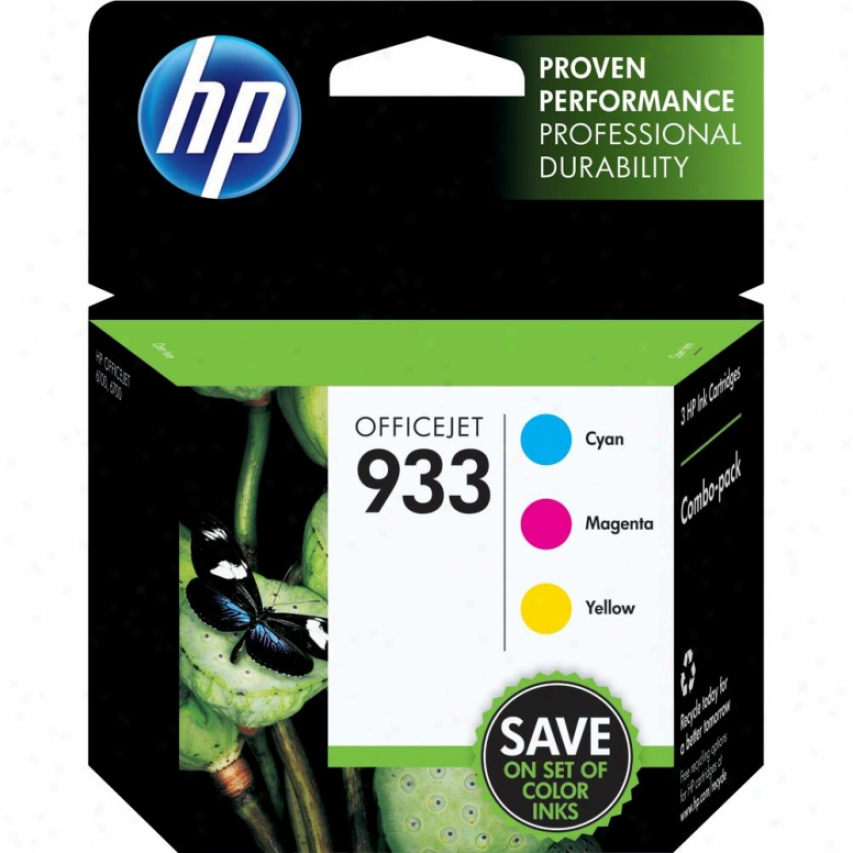 Hp 933 Color Officejet Ink Cartridge Combo Pack - Cyan, Mahenta & Yellow