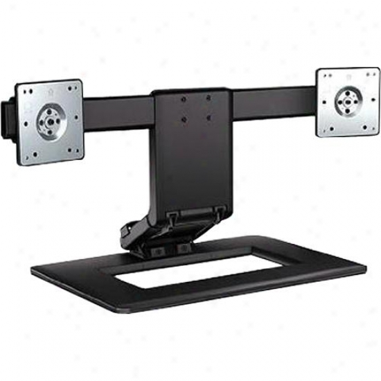 Hp Adjustable Dual Monitor Stand 24 Inches Aw664aa