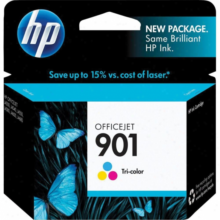 Hp Cc656an 901 Tri-color Officejet Ink Cartridge