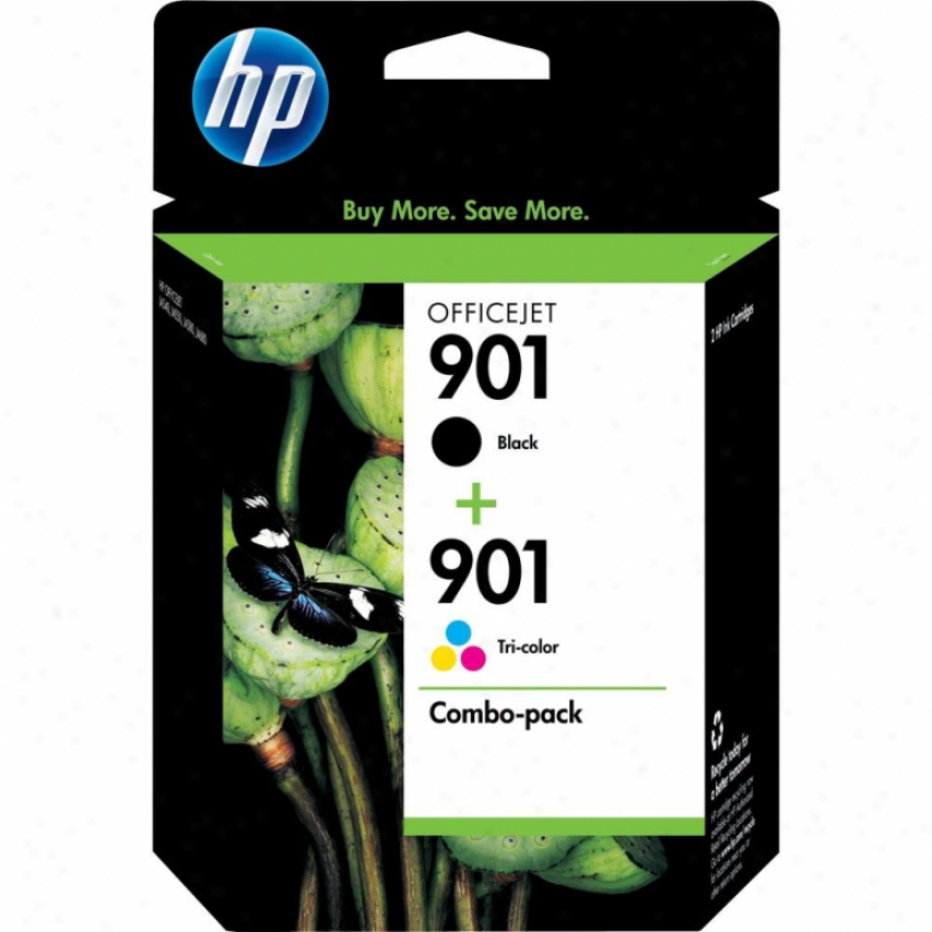 Hp Cn069fn 901 Combo-pacm Black/tri-color Officejet Ink Cartridges