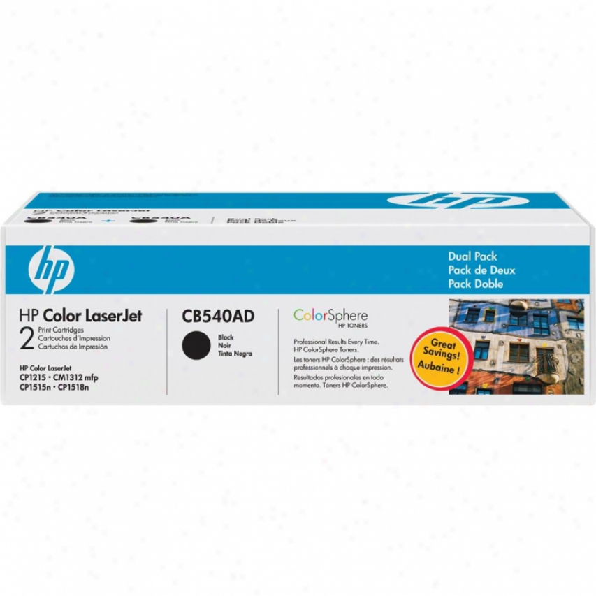Hp Color Laserjet Cb540ad Dual Pack Print Cartridgd