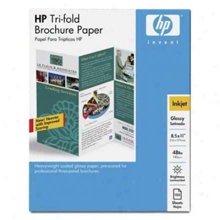 Hp Inkjet Glossy Tri-fold Brochur