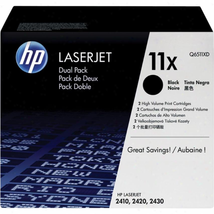 Hp Laserjet 11x Black Toner Caftridge Dual Pack