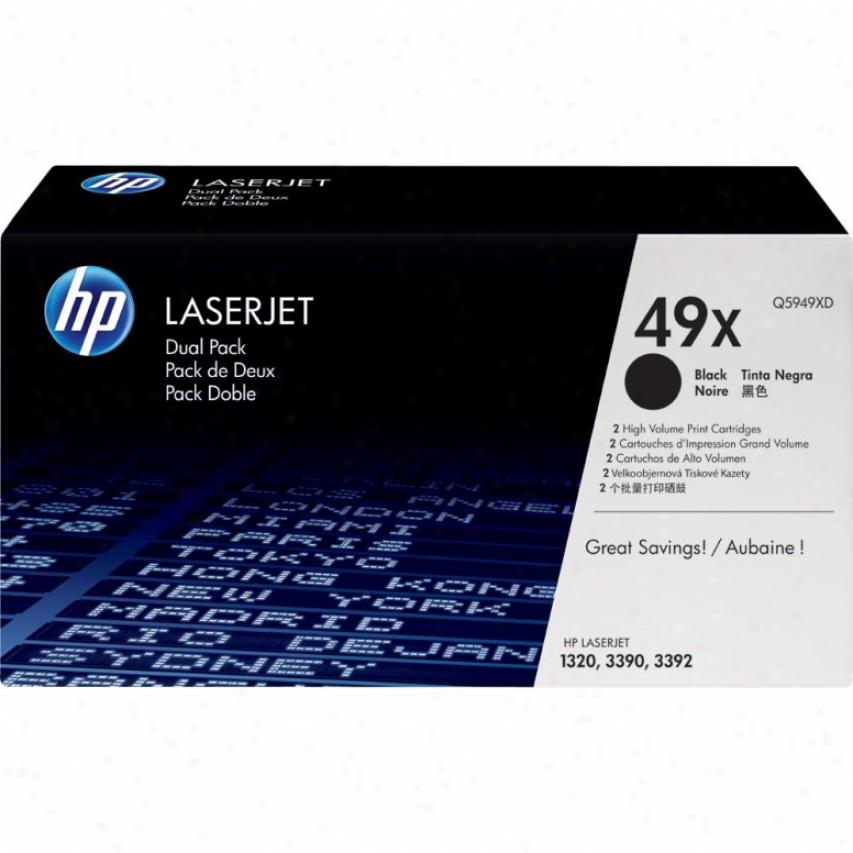 Hp Laserjet 49x Black Toner Cartridge Dual Pack