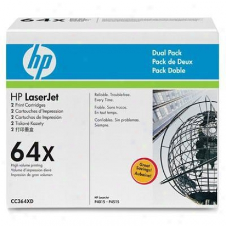 Hp Laserjet 64x Dual Pack Toner Cartridge Pack