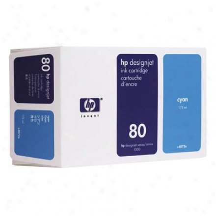 Hp No 80 Cyan Ink Cartridge