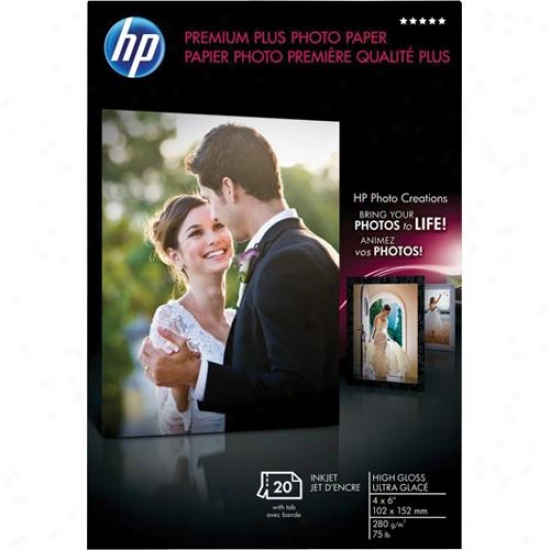 Hp Premium Plus Photo Paper - Soft Gloss (25-sheets, 8.5-inch X 11-inch)