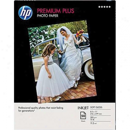 Hp Premium Plus Photo Paper - Soft Gloss (50 Sheets, 8.5-inch X 11-inch)