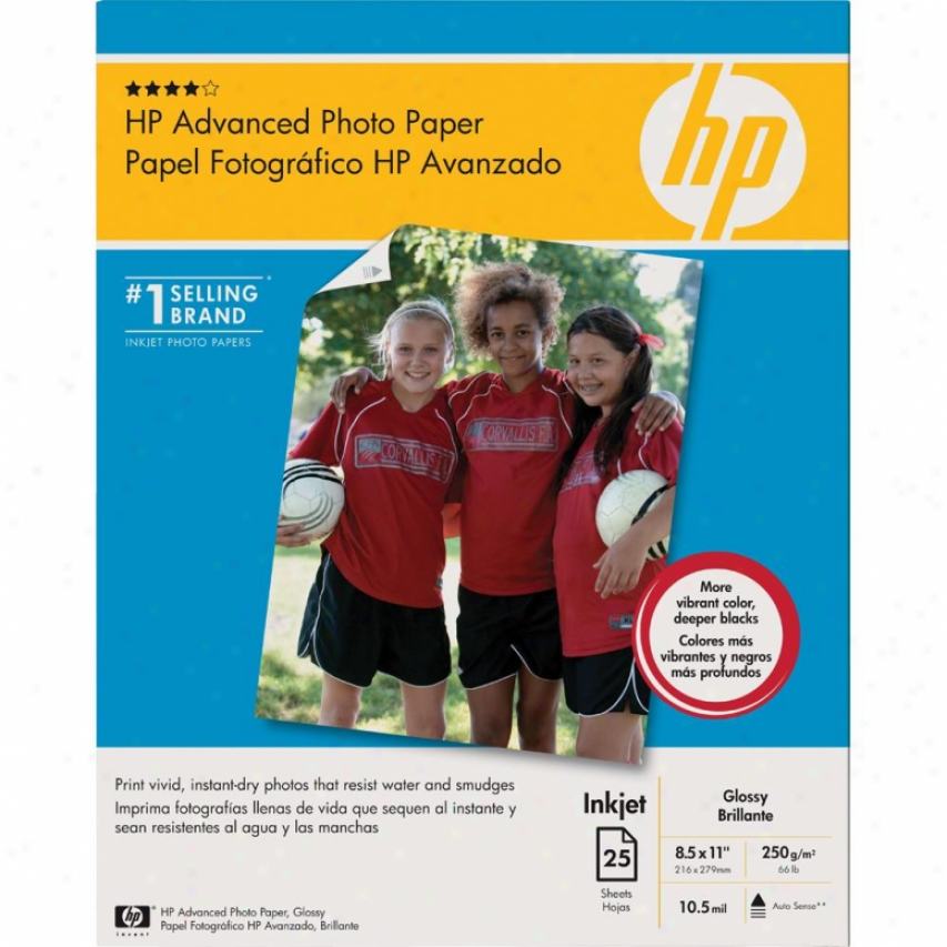 Hp Q7852a Glossy 8.5 X 11 Advanced Photo Paper