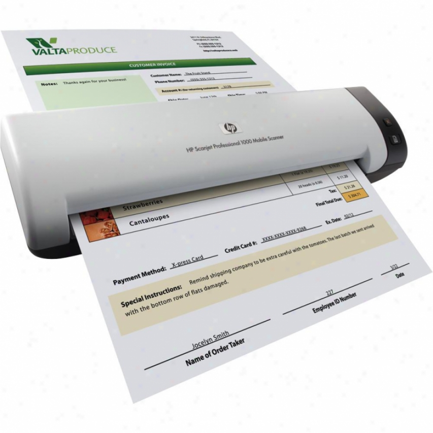 Hp Scanjet Professional 1000 Autoload Document Mobile Scanner