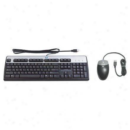 Hp Usb Mouse - Keyboard - Mouse Pad Desktop Kit
