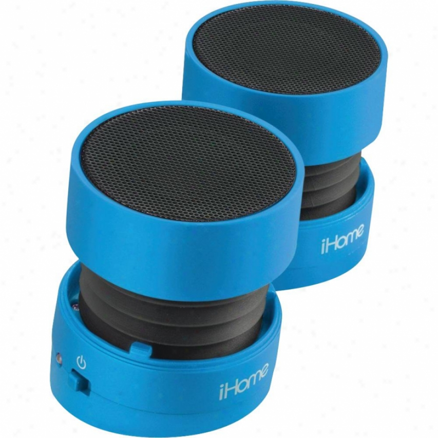 Ihome Ihm78 Rechargeablee Mini Speaker - Blue