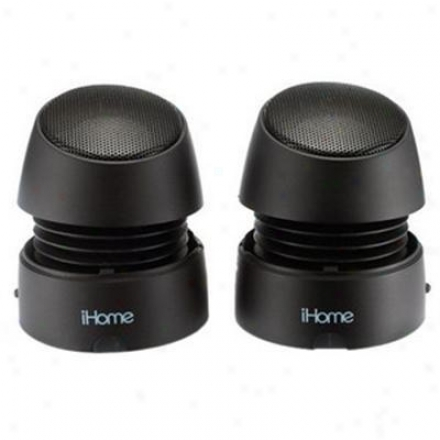Ihome Recharge Mini Speakers Black