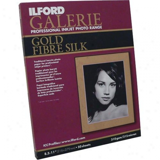 Ilford Galerie 11554047 8.5x11 Gold Fiber Silk - 50 Sheets