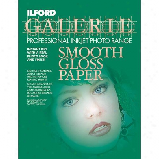 Ilford Galerie Smooth Gloss Inkjet Photo Paper ? 25 Sheets