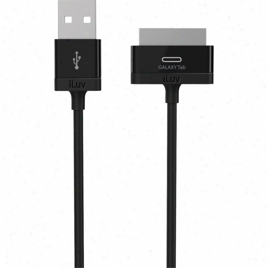 Iluv Charge-sync Cable For Samsung Galaxy Tab - Black - Icb60