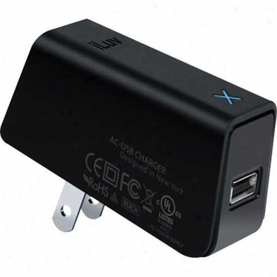 Iluv Compact Usb Power Adapter For Galaxy Tab - Black - Iad527