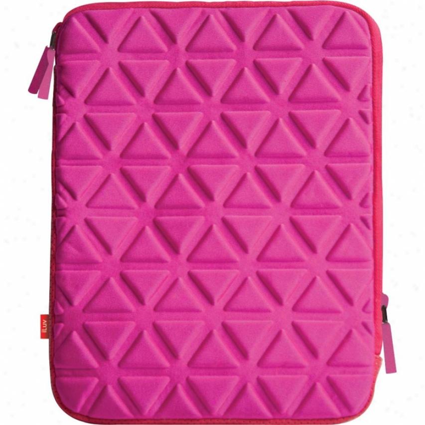 Iluv Icc2011 Foam-padded Neoprene Sleeve For Ipad 2 - Pink