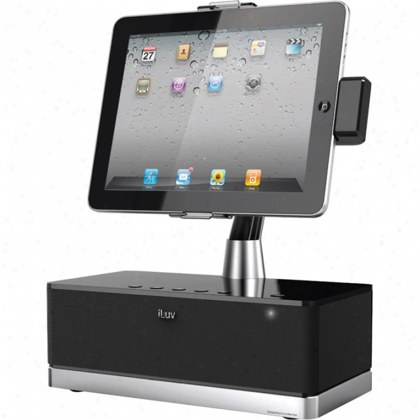 Iluv Imm514 Artstation Pro Stereo Speaker Dock For Ipad/iphone/ip0d - Black
