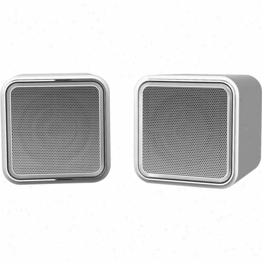 Iluv Isp160 Compact Uqv Stereo Speakers - Silver
